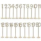 OULII 1-20 números de mesa de madera con Base de soporte pa