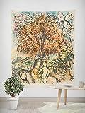 Tapiz - Adornos de Arte para Pared de Hogar, Pareo/Toalla de Playa Grande, Chic Decoración Habitacion 1 pieza, 150×200cm Pintura abstracta Chagall Sagrada Familia