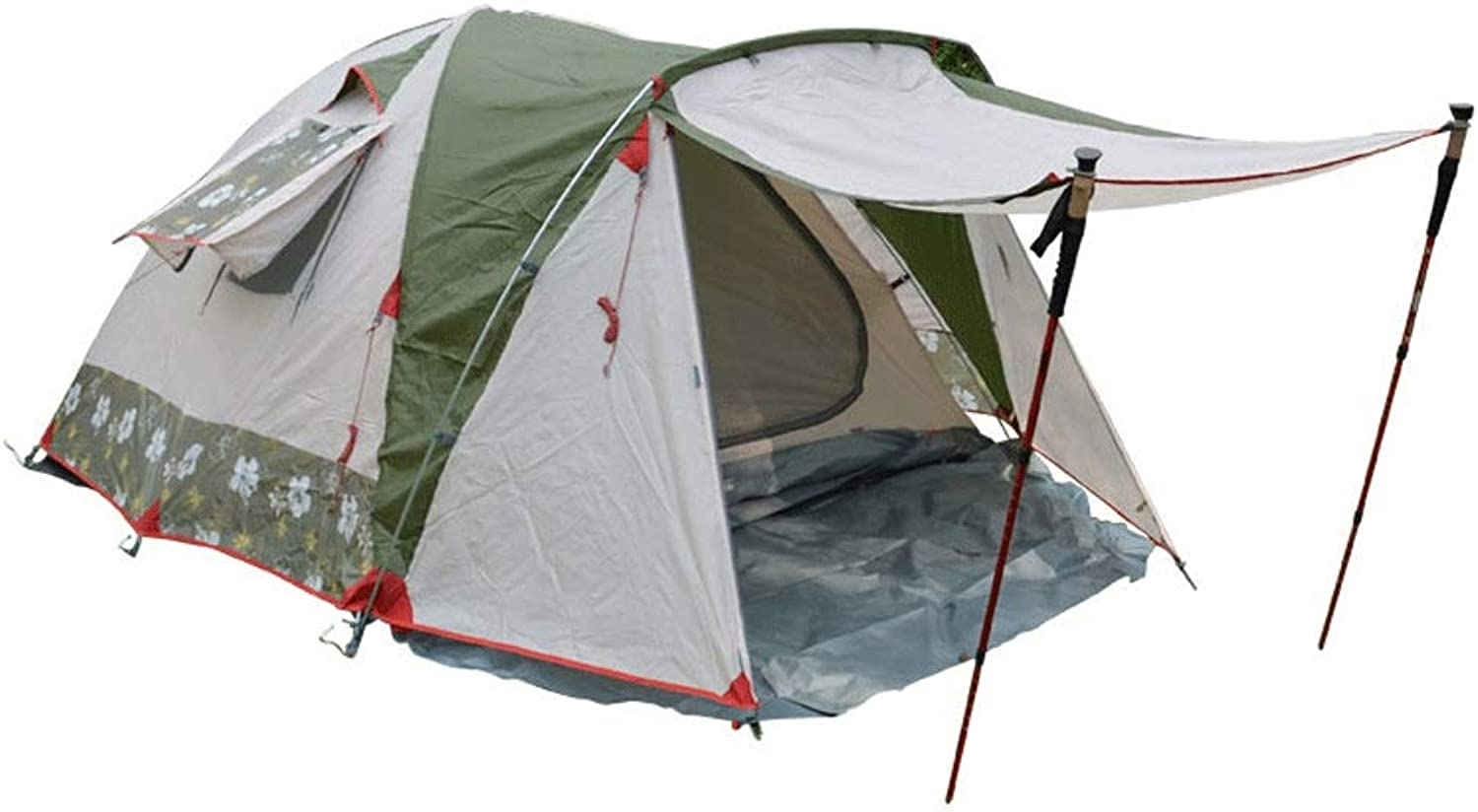 Outdoor Tent 34 People Aluminum Pole Camping Height 130cm Family Three Seasons Windproof rain Tent 2 People Wild Beach Camping Equipment Instant Set
