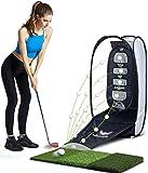 Alfombras de práctica para golf Formación Set de Golf Práctica de Golf Swing de corte Dispositivo Práctica neto interior y exterior Práctica Material plegable con el cojín for enviar la bola