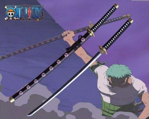 AIT Collectibles S1512 Japanese Anime ONE Piece Roronoa Zoro SHUSUI Black Sword Gun Metal Blade 41.1'