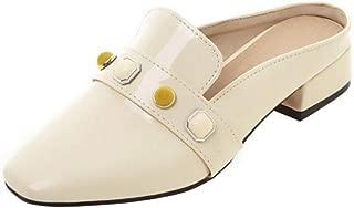 RizaBina Ladies Slip On Loafer Chunky Heels