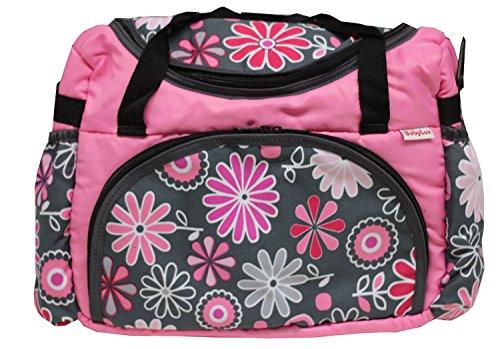 BABYLUX Wickeltasche Kinderwagentasche mit Wickelunterlage Gänseblümchen (29. Gänseblümchen Grün)
