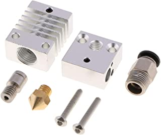 Flameer All Metal Assembled Extruder Hot End Kit for CR-10 3D Printer,1.75mm 0.4mm Nozzle