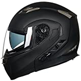 ILM Bluetooth Integrated Modular Flip up Full Face Motorcycle Helmet Sun Shield Mp3 Intercom (L,...