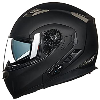 ILM Bluetooth Integrated Modular Flip up Full Face Motorcycle Helmet with Built-in Speakers