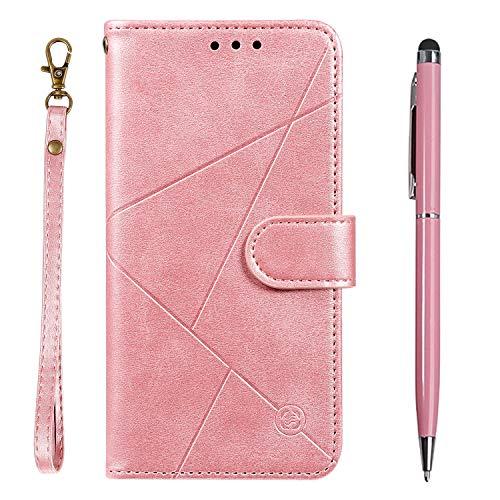 TOUCASA für iPhone 6S Hülle,Handyhülle für iPhone 6,Brieftasche PU Leder Flip [Prismatisch] Embossing Case Magnetverschluss Handytasche Klapphülle für iPhone 6S / 6 (4,7 Zoll)(Rosa)
