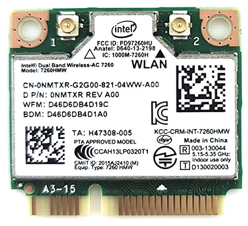 Intel 7260HMW AN Dual Band Wireless-AC 7260-PCIe WLAN / 802.11AC, Bluetooth 4.0 Mini-PCI-Karten