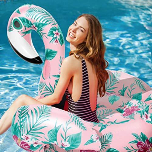 Flotadores de sandía de cisne gigante de 22 estilos Anillo de natación de flamenco de piña Flotador de piscina inflable de unicornio Juguetes de agua para niños y adultos boia, flor rosa de 150 cm