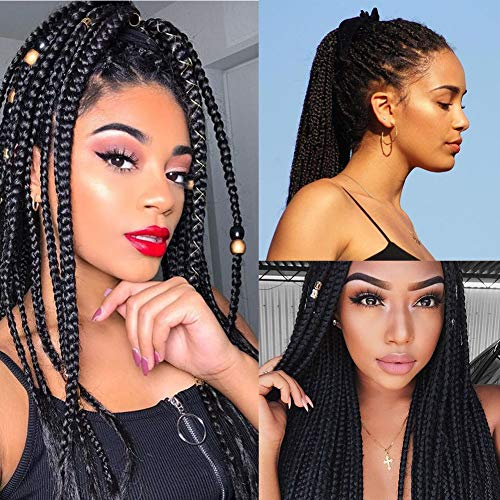 Pre Stretched Braids Hair 26 Inch Hot Water Setting Ombre Jumbo Synthetic Fiber Braiding Hair Extensions Ombre Black to Red (26, T1B/Red)