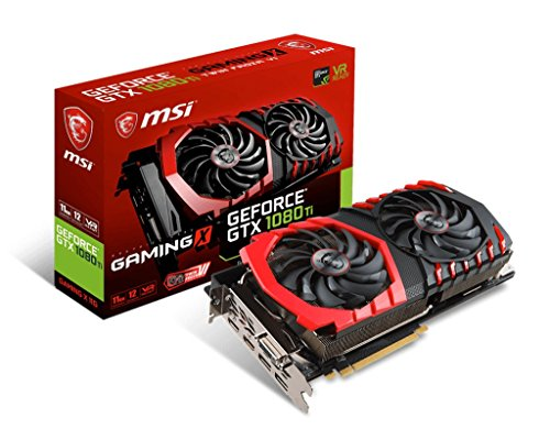 MSI GeForce GTX 1080 TI Gaming X 11G Scheda Grafica PCIE 3.0, 11 GB, GDDR5X 352 bit, 11.01 GHz, 1569...