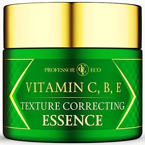 Vitamin C, B, E Texture Correcting Essence – Ultra Hydrating Cream Day or Night Moisturizer – Face Anti Aging Anti…