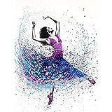 Graffiti abstracto Arte callejero Colorido Salpicaduras de tinta Pigmento Moda Chica Modelo Lienzo Pintura Arte de la pared Póster Dormitorio Sala de estar Estudio Decoración para el hogar M