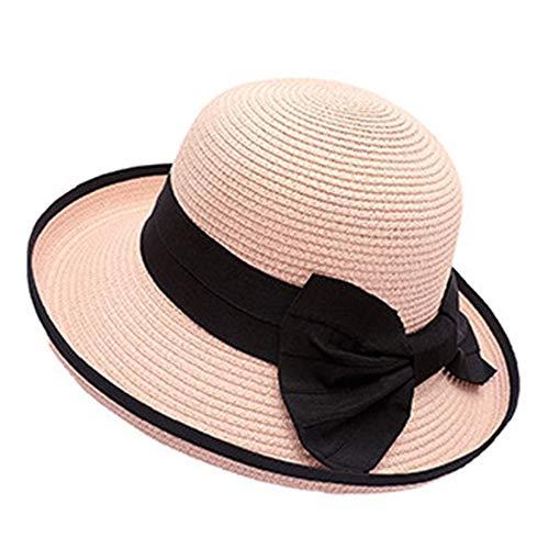 Sombrero Paja Mujer Sombreros de Playa Gorra de Protección Pamela de Paja...