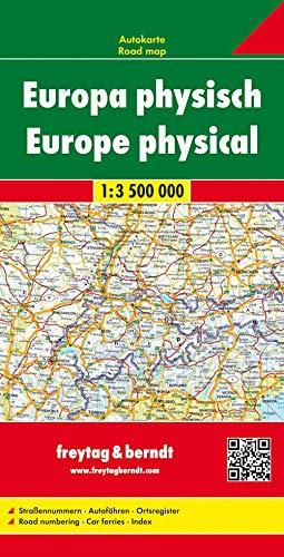 Europa physisch, Autokarte 1:3,5 Mio. (freytag & berndt Auto + Freizeitkarten)