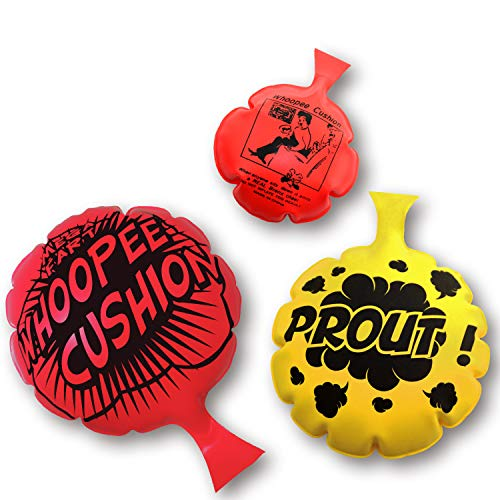 HUALEDI [3 Pack] Whoopee Cushion Set,Woopie Cushion Party Favor for [4,6,8 Inch][No Automatic...