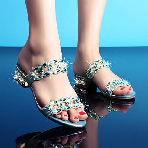 GTVERNH-Korean Summer Crystal Diamant Des Sandales Des Chaussures Occasionnels Forfaitaire Avec Une Femelle Cool Quarante
