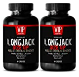 Testosterone Booster Lean Muscle - LONGJACK Size UP 2170Mg - Male Enhancement Supplement (with Maca, Tongkat Ali, L-Arginine, Ginseng) - 2 Bottles 120 Capsules