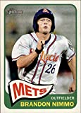 2014 Topps Heritage Minors #59 Brandon Nimmo RC Rookie Mets Baseball Card. rookie card picture