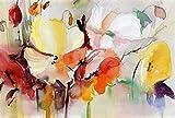 Pintura por Números Kit Flor de Arte Abstracto Diy Pintura al óleo para Adultos, Niños, Creative Pintura sobre Lienzo Decoración para el Hogar Dibujo con Pinceles 40X50Cm(Sin Marco)