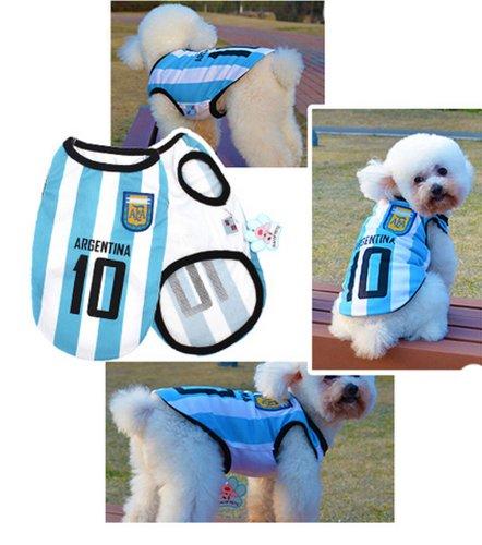 [Argentine] Lovely Dog Apparel Pet Vêtements pour animal domestique de football Vêtements, taille XL