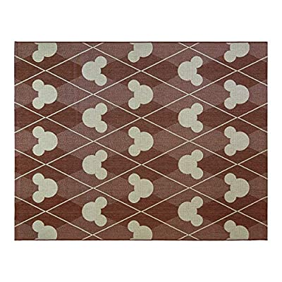 Gertmenian 31304 Disney Outdoor Rug Patio Mickey Mouse Outside Carpet, 9x13 X Large, Diamond Tile Apple Red