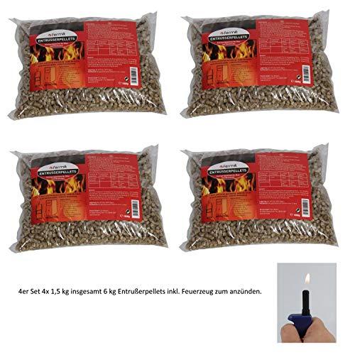 Entrußungspellets Entrußer Reinigungspellets 1,5 kg inkl.Feuerzeug von E-Com24 (Entrußungspellets)