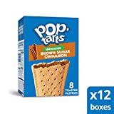 Pop-Tarts, Breakfast Toaster Pastries, Unfrosted Brown Sugar Cinnamon, Proudly Baked in the USA,  96 count (Pack of 12, 13.5 oz Boxes)