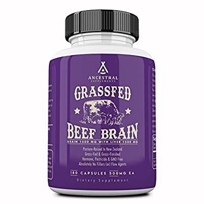 Ancestral Supplements Grass Fed Brain (with Liver) — Supports Brain, Mood, Memory Health (180 Capsules) from Ancestral Supplements