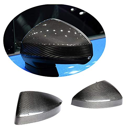 MCARCAR KIT Mirror Cover fits Audi TT TTS TTRS Sline MK3 Type FV/8S 2Door 2015-2019 Replacement Carbon Fiber CF Side Rearview Mirror Caps Exterior Outside Shell (With Side Assist Holes)