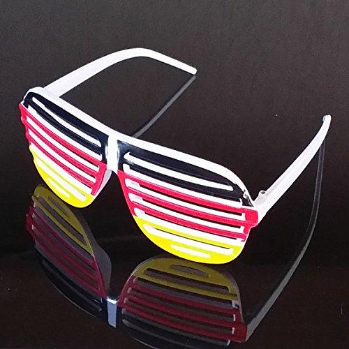 Brille Atzenbrille Fussball Fanartikel EM 2016 Frankreich Sonnenbrille NAUC