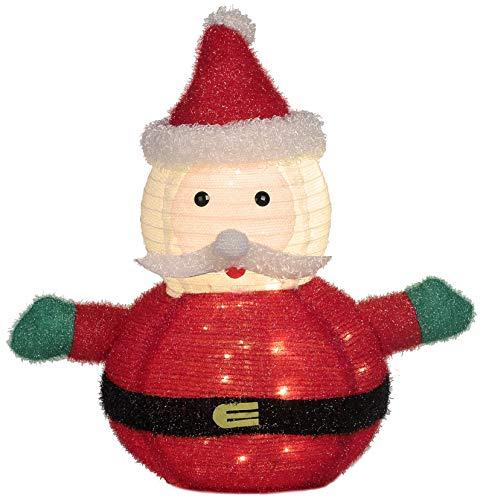 Weihnachtsmann Figur außen Garten 80 cm mit 50 LED beleuchtet