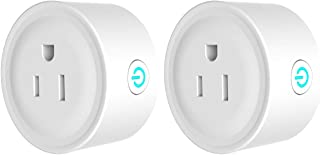 Mini Smart Socket Plug - Compatible with Amazon Alexa, Romote Outlet timer Switch, Control Your Devices Anywhere (2 Pack)