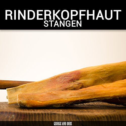 Rinderkopfhaut Stangen 30cm - 1000g | Rinderkopfhautstangen |Rinderkopfhaut | Made in Germany
