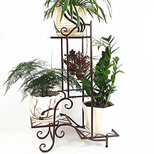 LLLXUHA Art de Fer Multi-Couche Support de Fleurs, européen intérieur Type de Plancher Cadre de bonsaï, Balcon Succulentes Présentoir,25 * 57 * 79cm, Copper