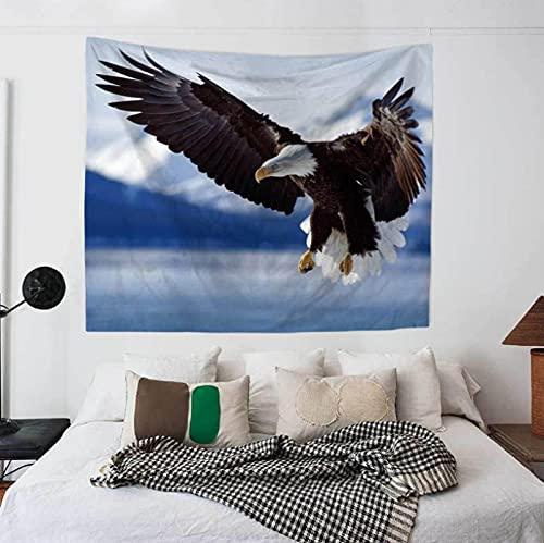 Tapiz Para Colgar En La Pared, Esterilla De Yoga, Toalla De Playa, Manta, Dormitorio, Dormitorio, Decoración De Arte De Pared Para El Hogar (150 X 200 Cm), 79 X 59 Pulgadas, Águila Voladora,