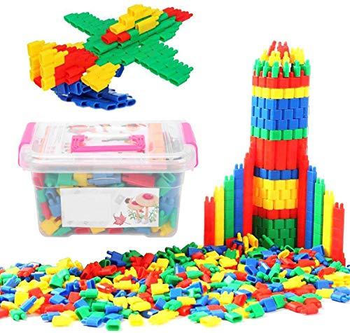 ITODA Bauklötze Kinderspiel Steckbausteine für Kinder ab 3 Jahre Alt Steckspiel Spielzeug Kunststoff...