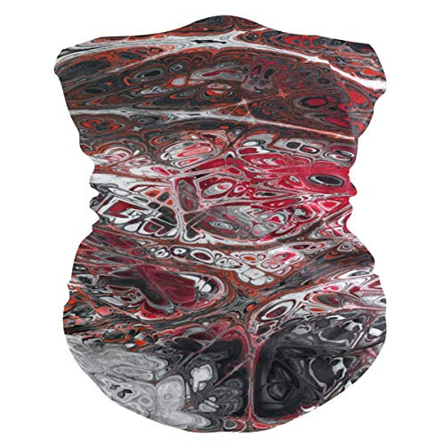 Sawhonn grijs-rood abstracte kunst sjaal mascara gezichtsmasker bandana haarband hoofdband hoofdband hoofdband hoofdband sjaal voor sport dames heren