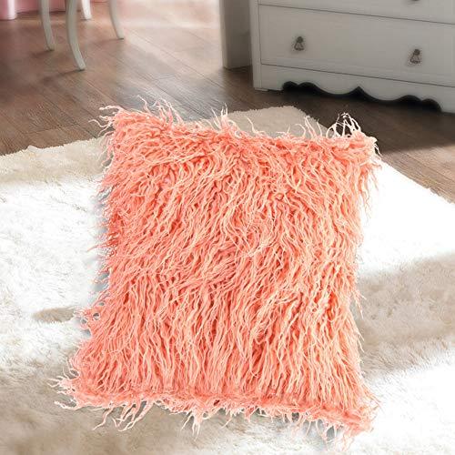 Jinyi Funda de Almohada para sofá, Funda de Almohada de Felpa Larga, Funda de Almohada para sofá de Piel, decoración del hogar para el Dormitorio de Textiles para el hogar del Coche(12-Pink, 12)