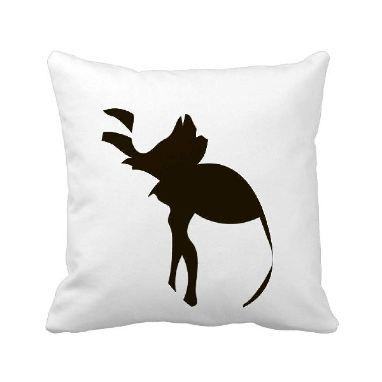 傾向があるジョージスティーブンソン未来ブラック?キャメルのかわいい動物の描写 パイナップル枕カバー正方形を投げる 50cm x 50cm