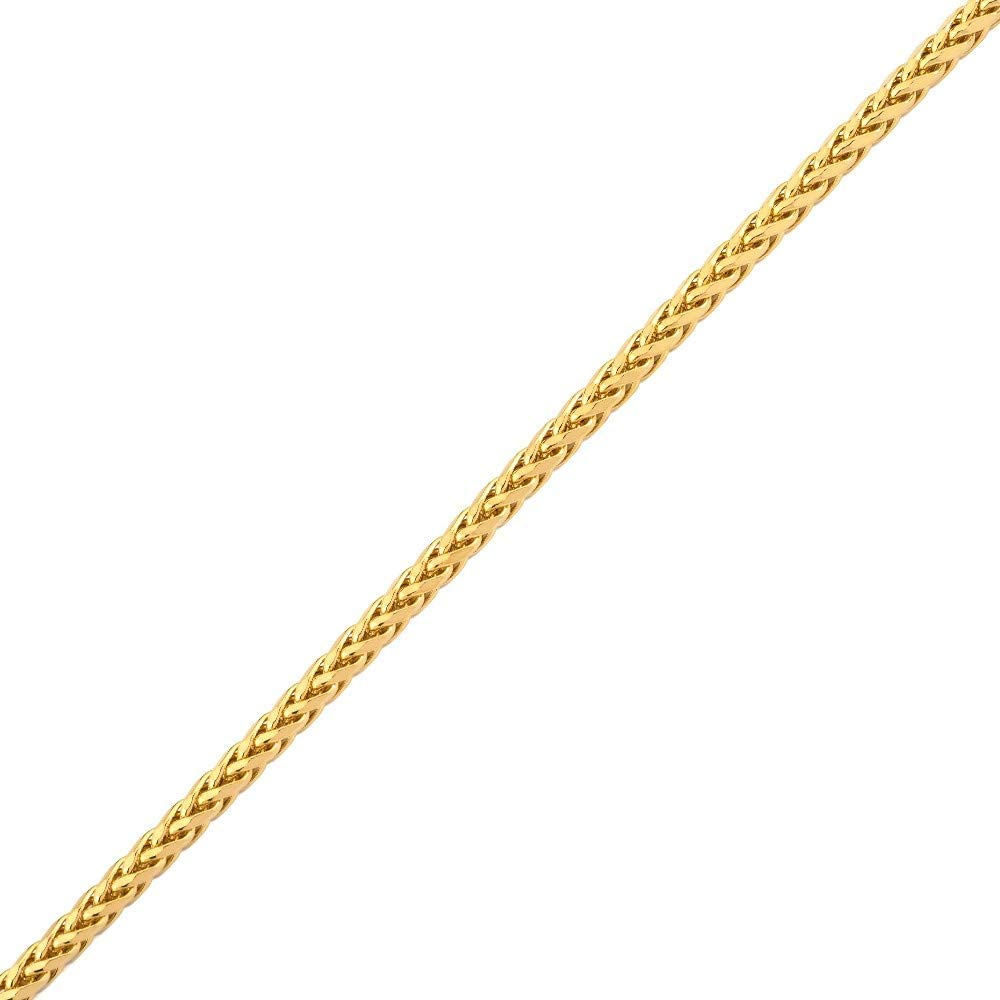 Mr. Bling 14K Yellow Gold Palm Chain Bracelet with Lobster Lock