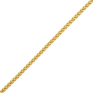 14K Yellow Gold Palm Chain Bracelet with Lobster Lock (2.5mm and 3mm)