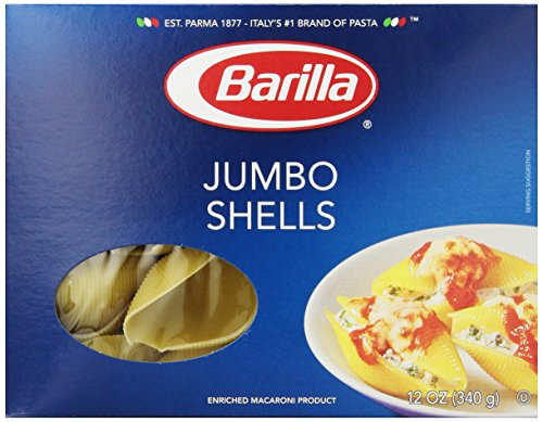 Barilla Pasta, Jumbo Shells, 12 Ounce