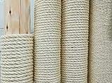 Kratzbaumland Qualitäts-Sisalseil aus Madagaskar-Faser, 6-12 mm, 100 Meter (8 mm)