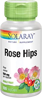 Solaray Rose Hips Fruit 550mg | Healthy Skin, Joints & Immune Function Support | Source of Vitamin C & Bioflavonoids | Non...
