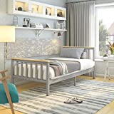 <span class='highlight'><span class='highlight'>PANANASTORE</span></span> Grey & Pine Single Bed Wooden Frame Solid Wooden Bed Frame Wooden Pine Frame for Adult Kids Teenagers (Grey & Pine, 3FT)