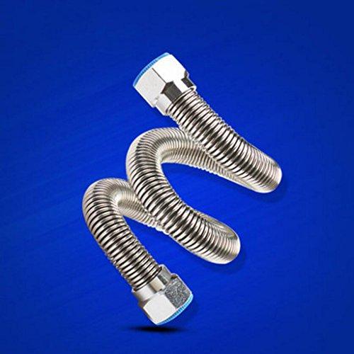 MXJ61 Tubes d'entrée en tube d'ondulation 304 en acier inoxydable Tubes d'eau à chaud et à froid étanches Tubes d'eau Réchauffeur d'eau (taille : 20CM)