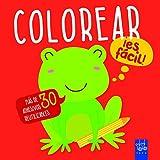 Colorear ¡es fácil! Rana: Con adhesivos