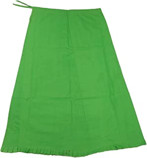 Beautifly Women's 100% Cotton Saree Petticoat with Attractive Bottom Design-Pack of 1