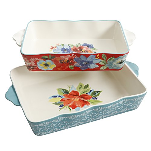 The Pioneer Woman Baking Dish Spring Bouquet 2-Piece